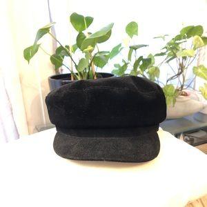 Zara corduroy hat (newsboy style)